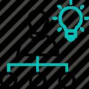 brainstorm, creativity, idea, strategy, team icon, team work icon