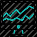 analysis, analytics, chart, computer, graph, monitoring, statistics icon icon