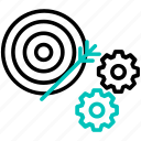 configure, focus, gear, setting, target icon icon