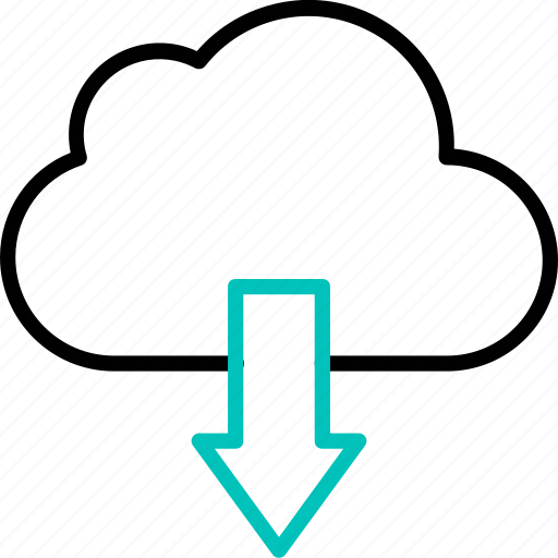 cloud, download, downloading, save, transfer icon icon