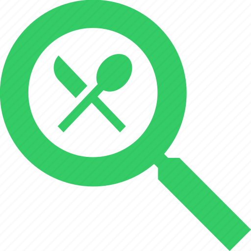 food, recipe, restaurant, search icon