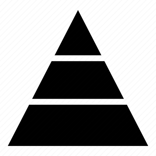 hierarchy organisation power structure pyramid ranking icon