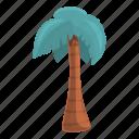 palm, beach, summer, tropical