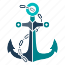 anchor, marine, nautical, navy, ocean, sea, seaside icon