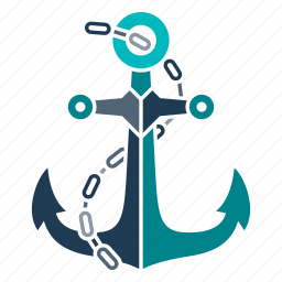 anchor, marine, nautical, navy, ocean, sea, seaside icon