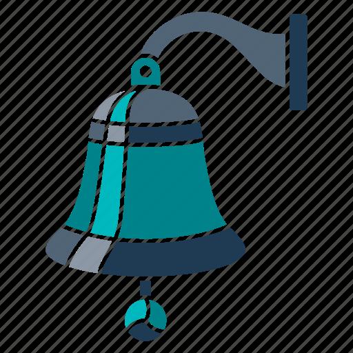 bell, marine, nautical, navy, ocean, sea, seaside icon