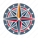 compass, marine, nautical, navy, ocean, sea, seaside icon