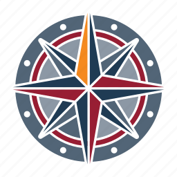compass, marine, nautical, navy, ocean, sea, seaside icon