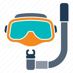 deep, diving, equipment, gear, mask, snorkeling, sport icon