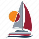 marine, nautical, navy, sea, seaside, ship, yacht icon