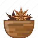 anise, badian, cooking, orient, seasoning, spice, yumminky icon