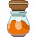 cinnamon, cooking, curry, pepper, seasoning, spice, yumminky icon