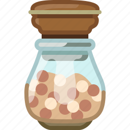 cooking, orient, pepper, seasoning, spice, white pepper, yumminky icon