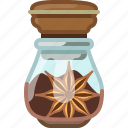 anise, badian, cooking, pepper, seasoning, spice, yumminky icon
