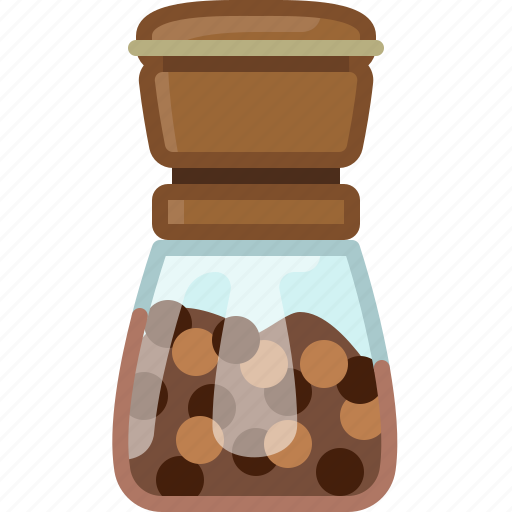 cooking, kitchen, orient, pepper mill, seasoning, spice, yumminky icon