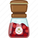 cooking, orient, pepper mill, red pepper, seasoning, spice, yumminky icon
