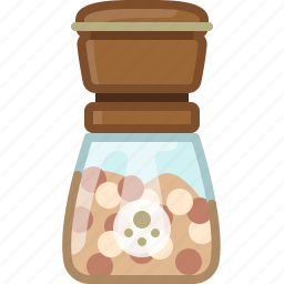 cooking, orient, pepper mill, seasoning, spice, white pepper, yumminky icon