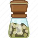 cooking, green pepper, orient, pepper mill, seasoning, spice, yumminky icon