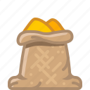 cooking, curry, orient, sack, seasoning, spice, yumminky icon
