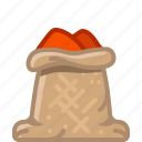 chilli, cooking, pepper, sack, seasoning, spice, yumminky icon