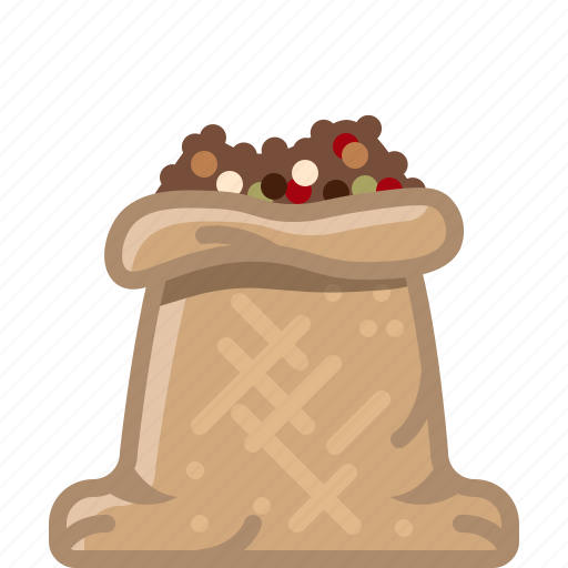 cooking, mix pepper, orient, sack, seasoning, spice, yumminky icon