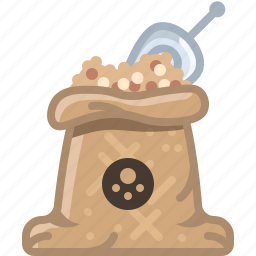 cooking, orient, sack, seasoning, spice, white pepper, yumminky icon