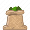 basil, cooking, herbs, sack, seasoning, spice, yumminky icon