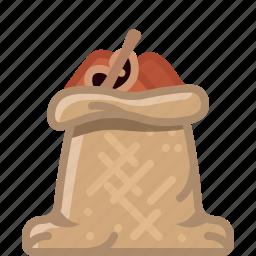 cinnamon, cooking, orient, sack, seasoning, spice, yumminky icon