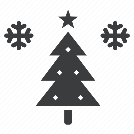 christmas, santa, season, snow, star, tree, winter icon