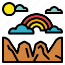 atmospheric, clouds, rainbow, spectrum icon