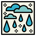 fall, raindrop, water, weather icon