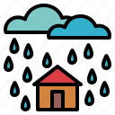meteorology, rainy, sky, weather icon