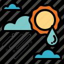 cloundy, rainy, seasons, sunny icon