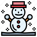 cold, snowman, weather, winter icon