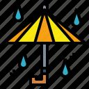 protection, rainy, umbrella, weather