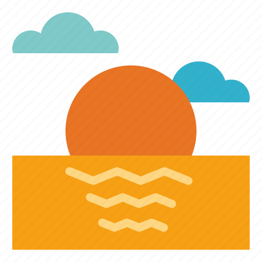 Beach, sea, sunset, weather icon - Download on Iconfinder