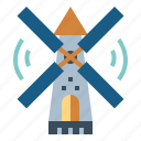 ecology, environment, windmill, windy icon