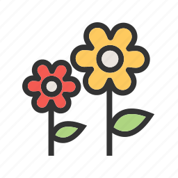 beautiful, colorful, flowers, garden, nature, spring, summer icon