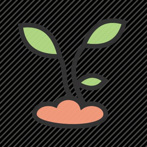 farming, green, growth, nature, plant, soil icon