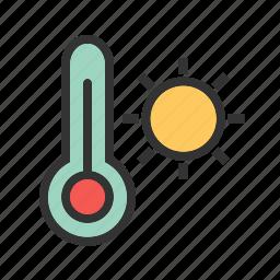 heat, hot, sky, summer, sun, warm, weather icon
