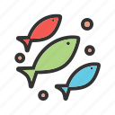 aquarium, fish, life, marine, sea, swimming, water icon