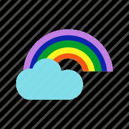 beautiful, gradient, green, rainbow, sky, sunset icon