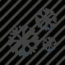 winter, nature, sky, snow, snowfall, cold, white