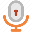 audio, keyhole, microphone, music, recording, security, speak icon
