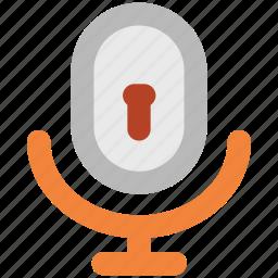 audio, keyhole, microphone, music, recording, security, speak icon