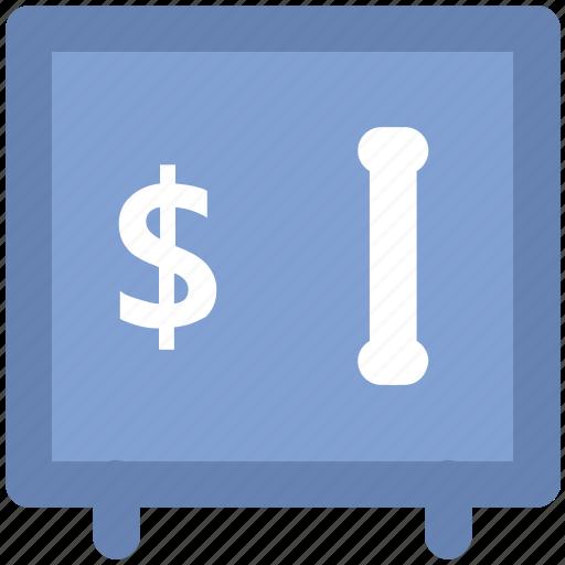 bank safe, bank vault, dollar sign, finance, money box, safe box, storage icon