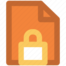 confidential, data security, digital security, document, important file, informations, paperwork icon