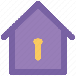 home, home investment, home ownership, insurance, key slot, property, real estate icon