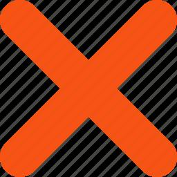 cancel, close, delete, exit, remove, trash, x cross icon