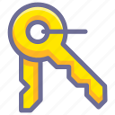 key, password, unlock icon
